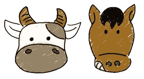牛头马面看图猜成语